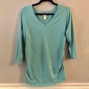 Sundance T Shirt Aqua Ruched Detailing
